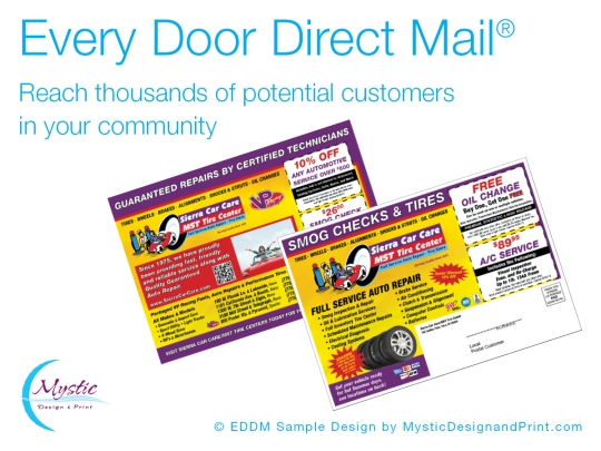 Every Door Direct Mail Sample by Mystic Design and Print
